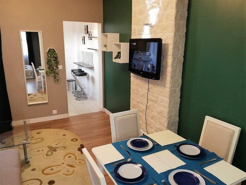 Cozy appart refait par architect, proche de la gare et du centre de Reims, holiday rental in Marne