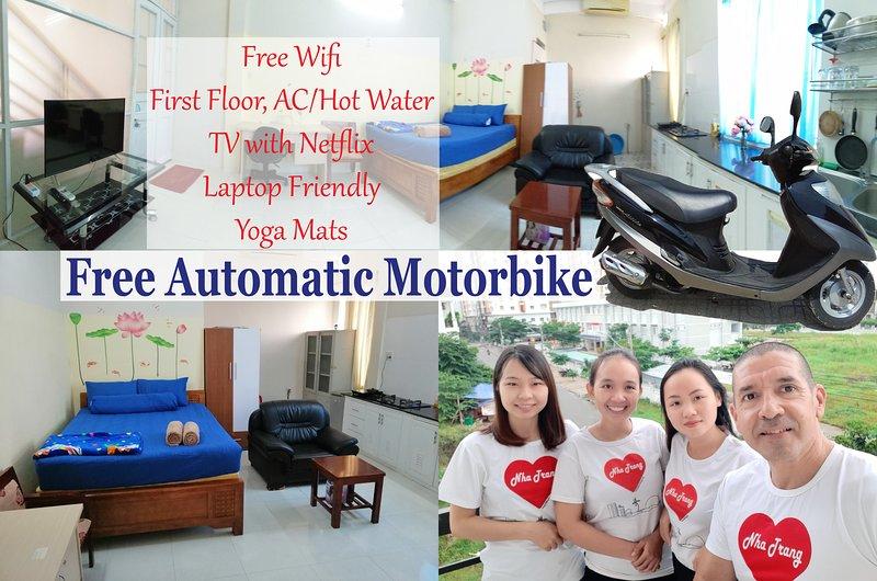 FREE Motorbike - First Floor - TV with Netflix, alquiler vacacional en Nha Trang