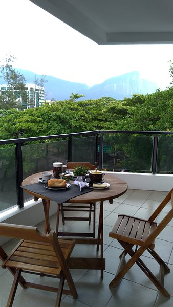 Cozy balcony with a privileged view. great for a breakfast or dinner
