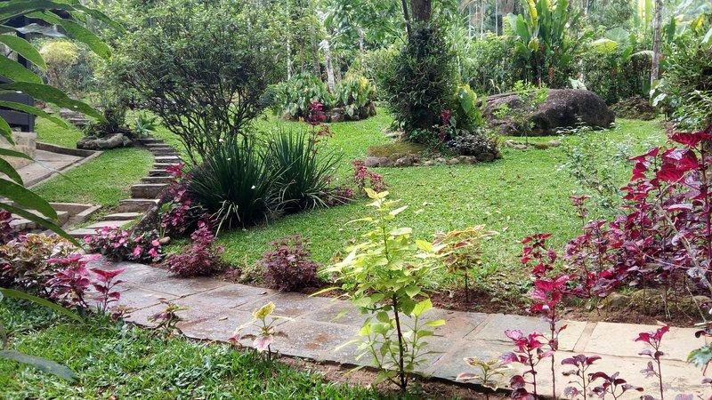 Jardín de entrada.