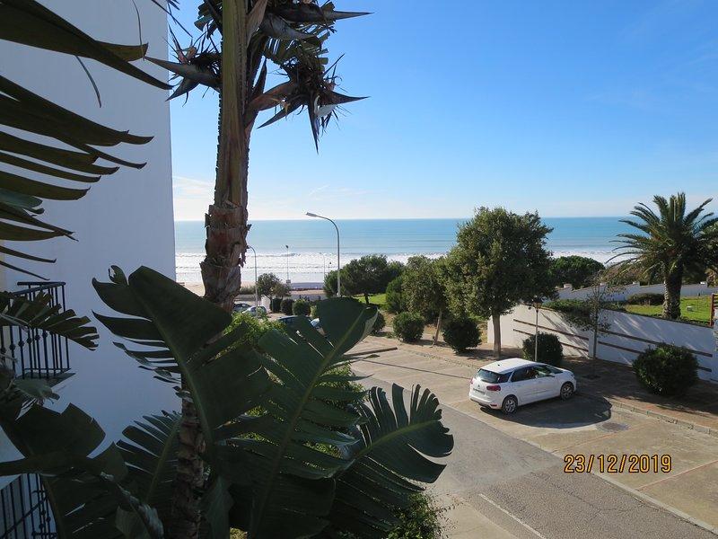 Vista dal balcone dell'Oceano Atlantico e dalla spiaggia di Fontanilla
