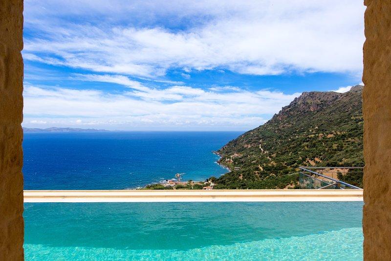 Luxurious design, exclusive, sea view, outdoor hot tub, location de vacances à Ravdoucha