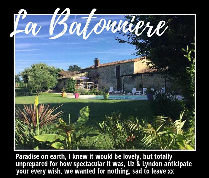 La Batonnière , an 18th century farmhouse  offering 21st century convenience, location de vacances à Xaintray
