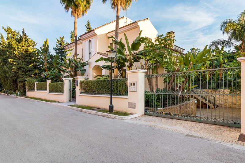 Front Of Villa With Street Parking and Electric Gate Access To Secure Parking; Double Garage