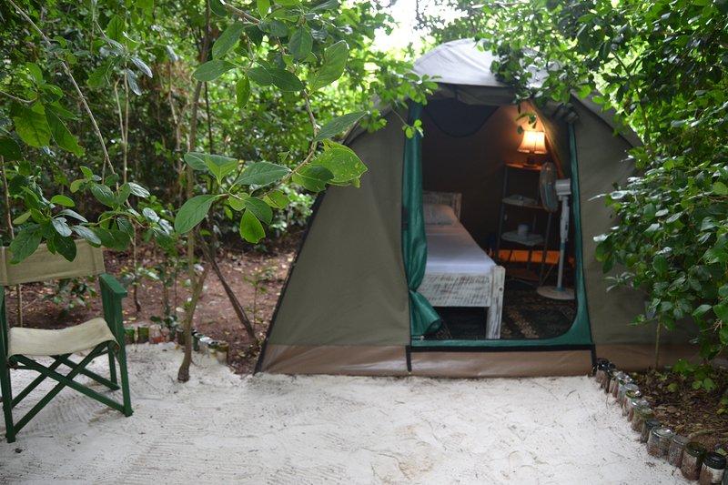 Bamba Kofi Tented Camp, Beachfront Forest, close to the best kitesurfing school, vacation rental in Watamu