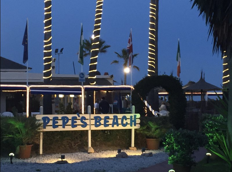 The Famous Pepes Chiringuito Beach Bar Only 8 Minute Walk From The Villa