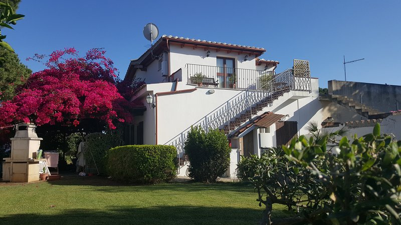 Vakantiehuis met tuin gezien