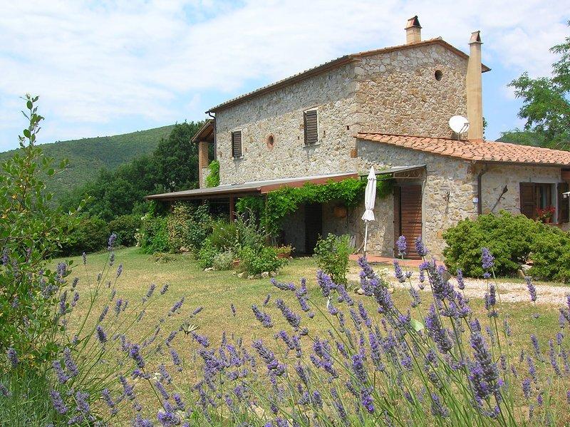 Apartment in Tuscany Farmhouse, holiday rental in Castellina Marittima