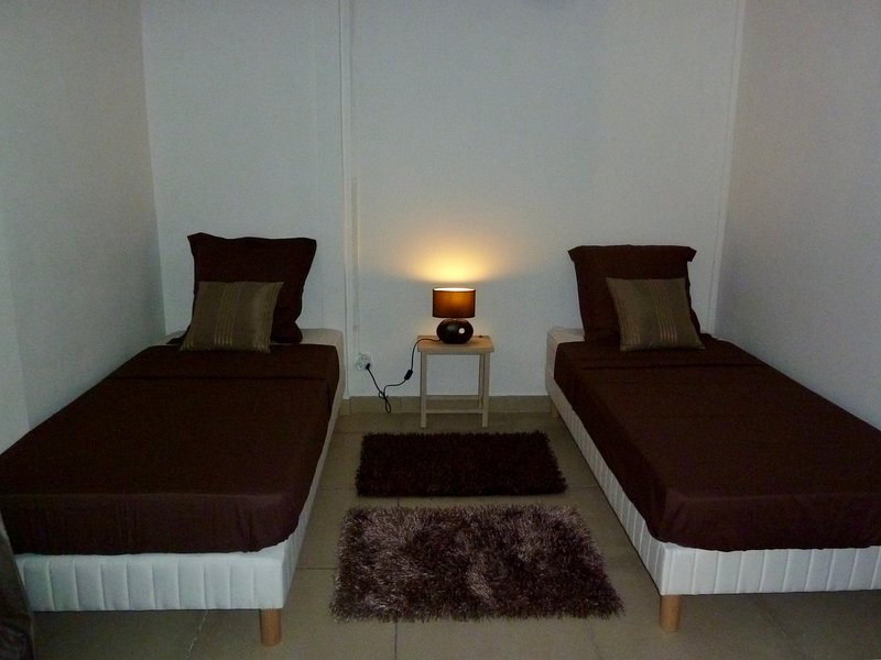 Rum med två sängar