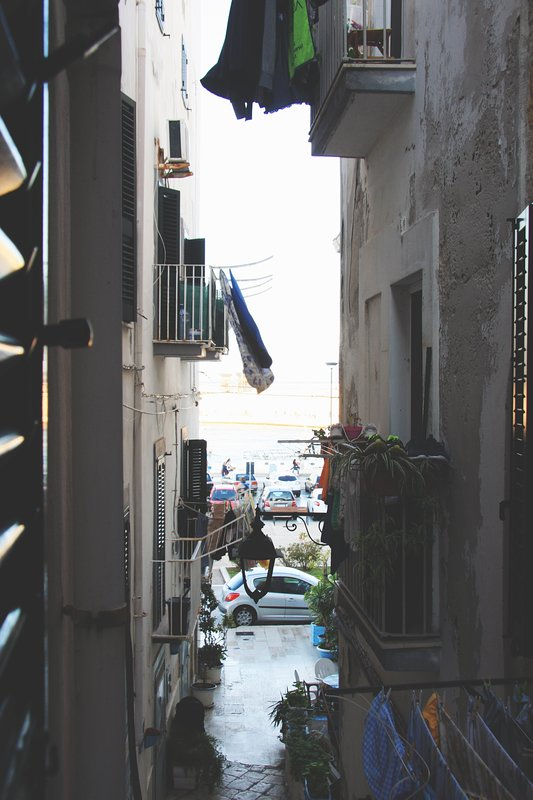 This is the beautiful typical Puglia street of our house.