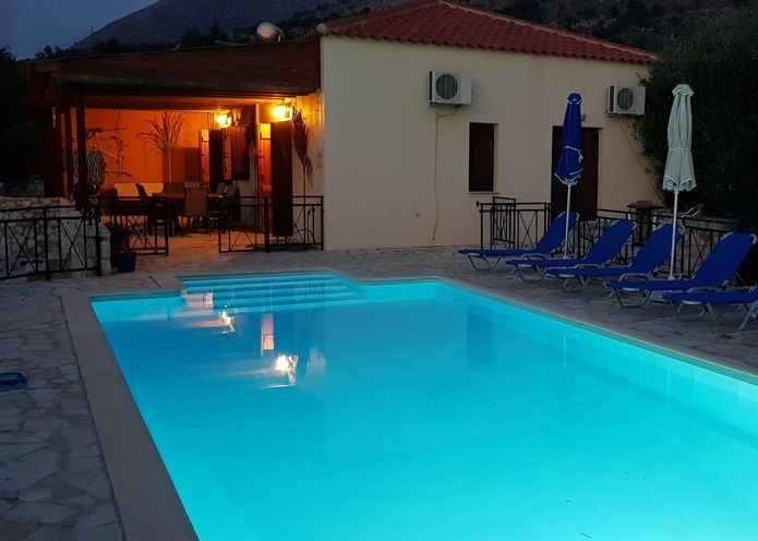 ☀️ NO STAIRS ☀️ Near Almyrida ☀️PRIVATE POOL Gated for Child Safety ☀️ FREE WiFi – semesterbostad i Kreta
