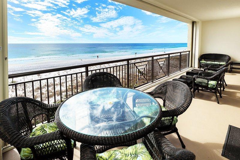 Balcony -  Bella Riva Resort, Okaloosa Island Fort Walton Beach Florida Vacation Rentals