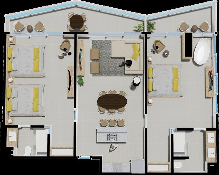 2 Bedroom suite  Dominican Republic *** all inclusive, holiday rental in Ranchete