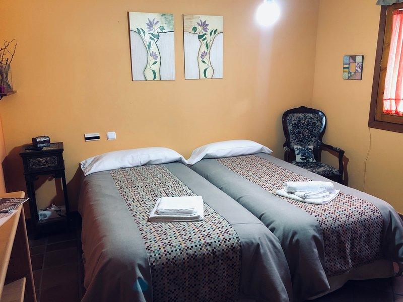 Habitación doble 2 camas individuales. I, location de vacances à Bernuy de Porreros