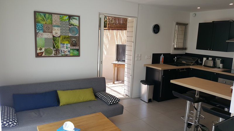 Studio moderne avec jardin privatif, vacation rental in Torderes