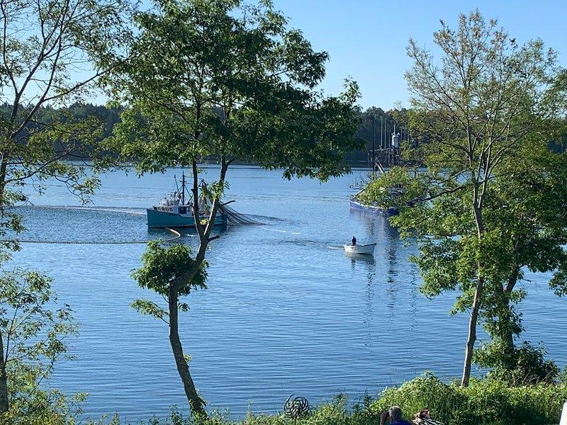 Puedes ver pescadores desde tu cubierta delantera.