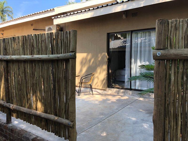 Private screened patio