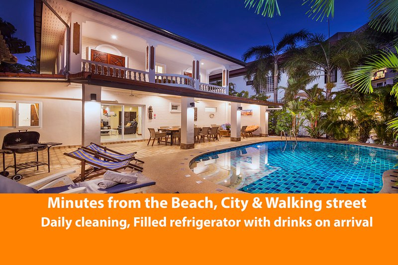 ★★★★★ Villa Waree with pool, just 5 minutes from walking street / City – semesterbostad i Pattaya