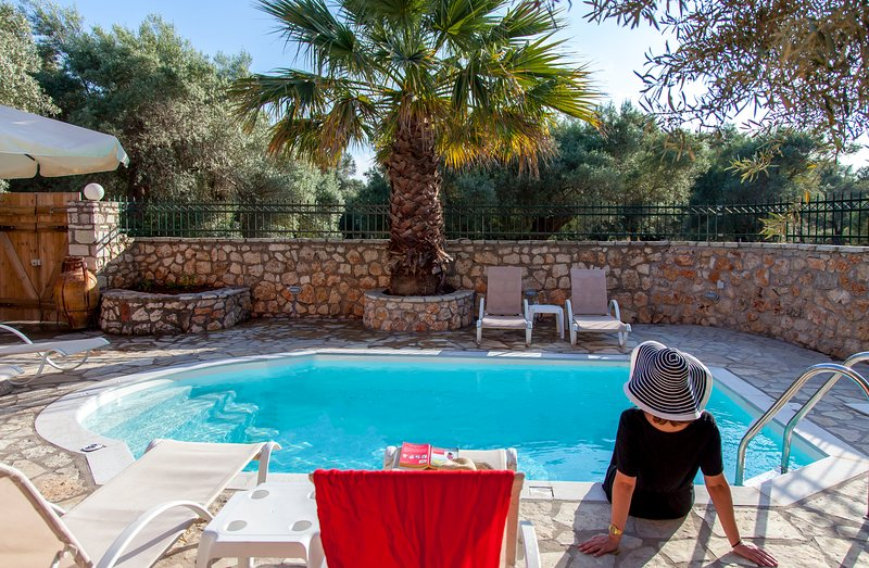 Traditional Family House With Private Pool and Large Garden, holiday rental in Tsoukalades