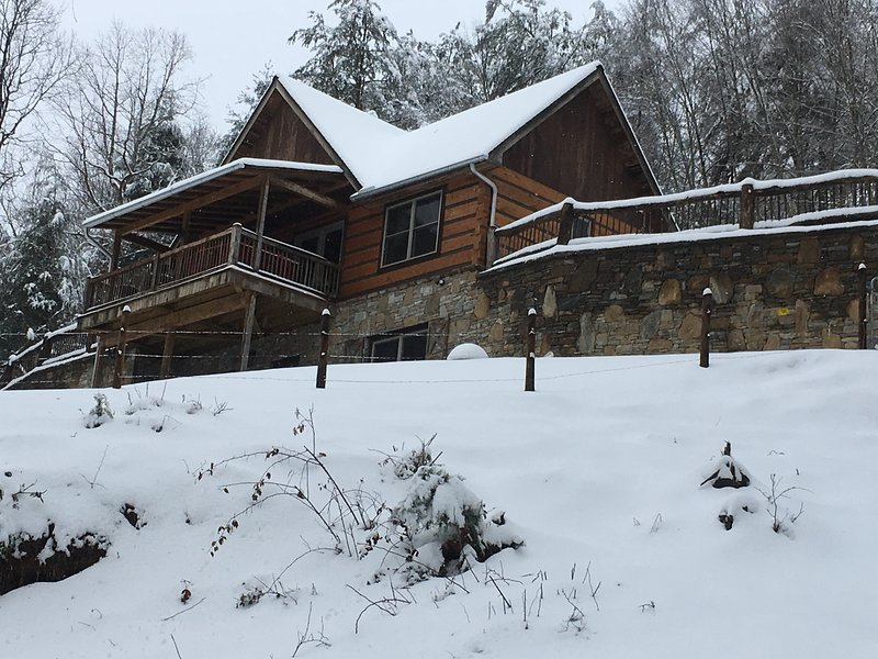Our Paradise at the Rivers Edge cabin also on FK. Winter Wonderland!