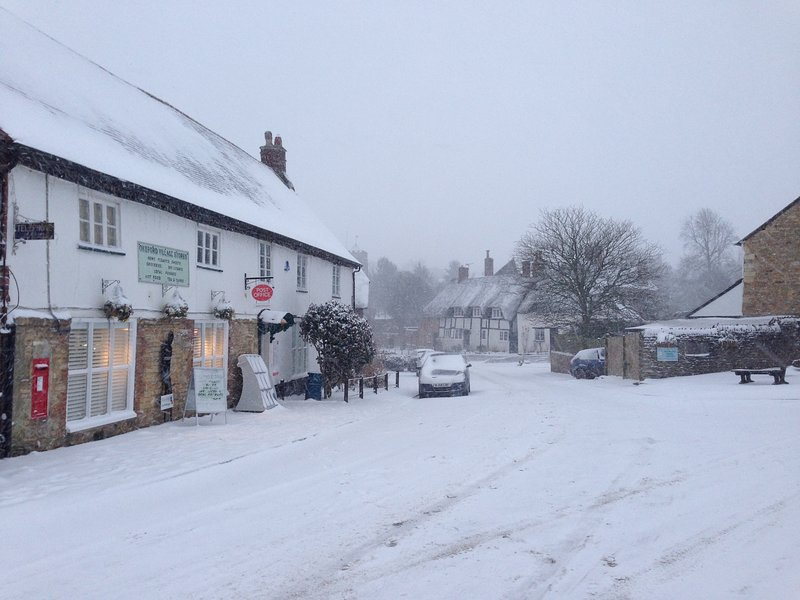 Village shop and post office.  Open every day