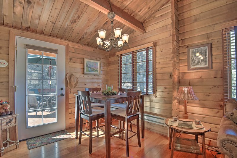 Make lasting memories with loved ones from this updated modern cabin.