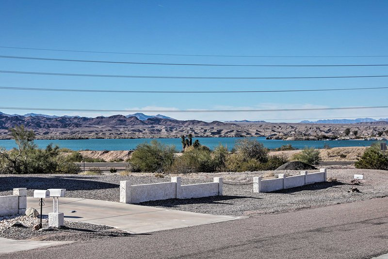 Your view from this home crosses state lines to California's Whipple Mountains!
