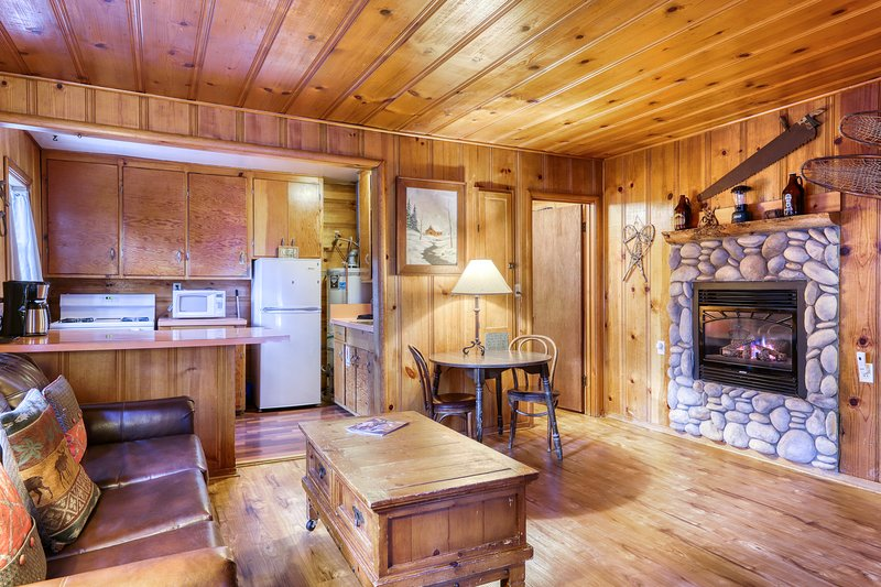 Dog-friendly rustic cabin w/ soothing shared hot tub; fenced grounds; trails, vacation rental in Markleeville