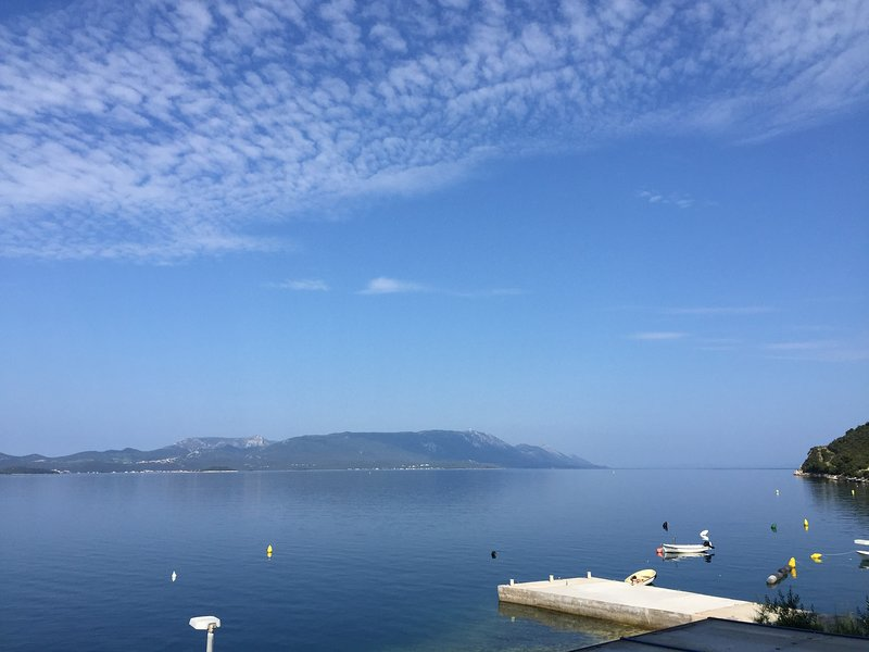 Large Dalmatian seafront apartment with 4 bedrooms - fantastic views, vacation rental in Komarna