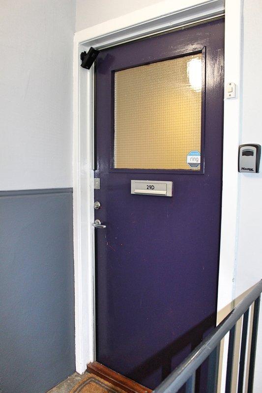 Front door of apartment