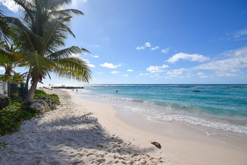 Vista para a praia a partir do exterior traseiro