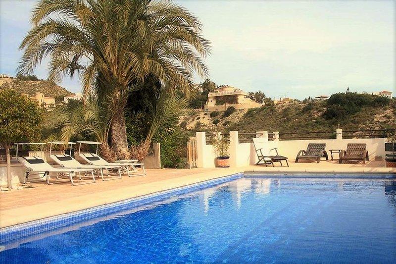 Great Villa Private Pool for unforgetable sunbreak In El Campello Alicante, holiday rental in Campello