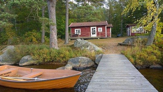 F02/Ekudden - Stuga vid insjö, location de vacances à Sölvesborg
