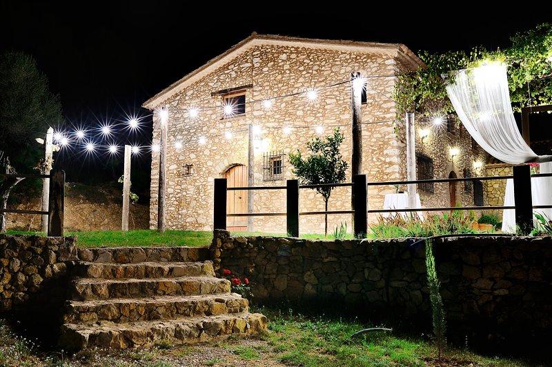 Típica masía catalana de piedra, con una antigüedad de dos siglos., location de vacances à Sant Pere Molanta
