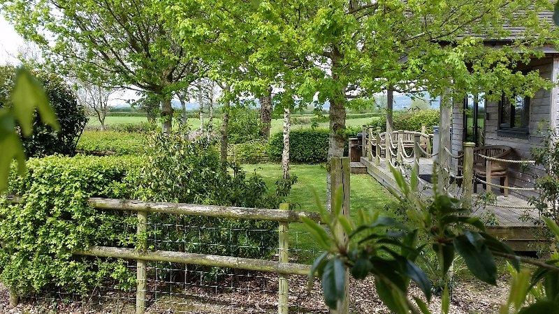 Jardin privé avec vue sur Mendip Hills