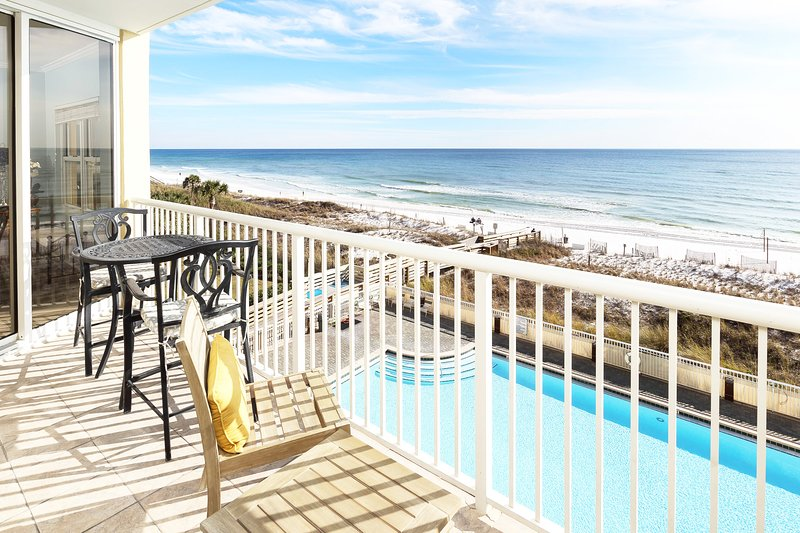 Balcony -  Waters Edge Resort Unit 412 Fort Walton Beach Okaloosa Island Vacation Rentals