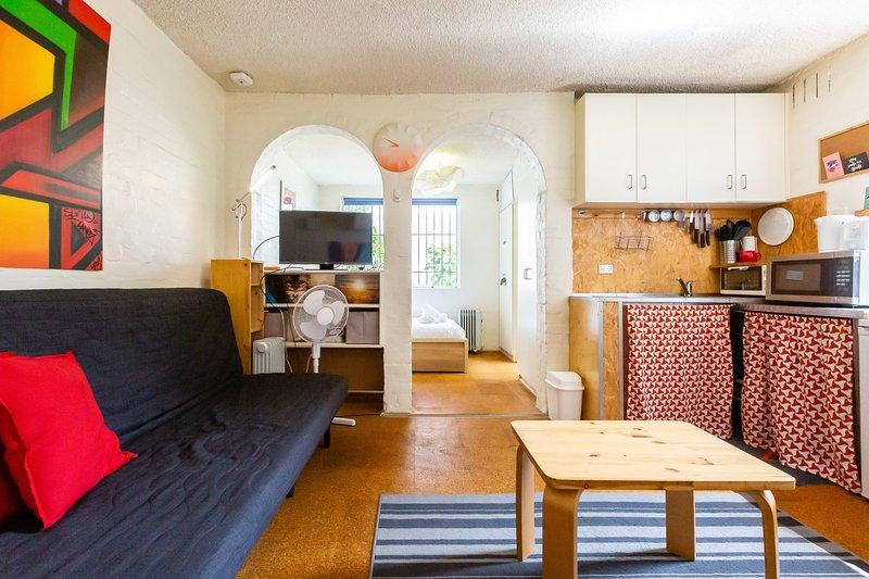 Reid, cute Fitzroy studio on the city edge, location de vacances à Yarra