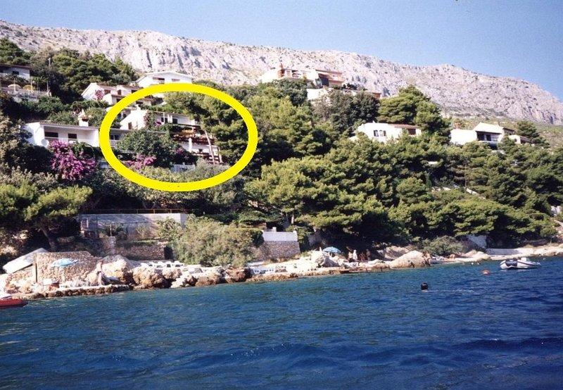 Branka - at the beach: A1(4) - Stanici, location de vacances à Stanici