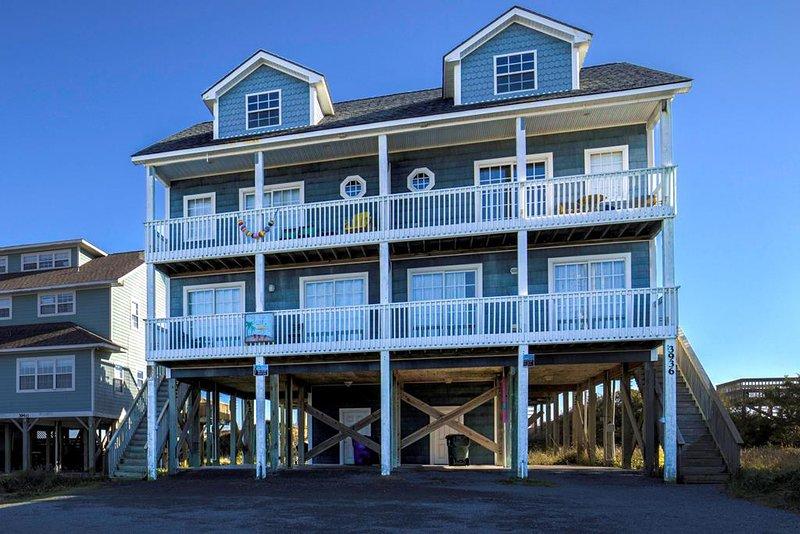 Island Drive 3938 Oceanfront! | Internet, Pet Friendly, alquiler de vacaciones en Topsail Island