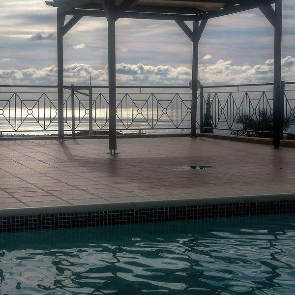 pool, sea and sky, all you can see and feel at Savas Holiday Home!