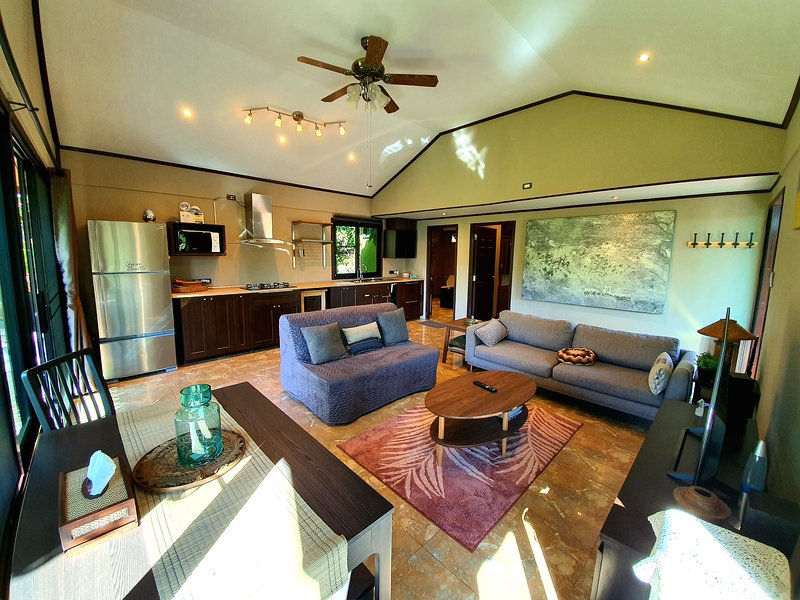 Fully equipped kitchen with extendable dining table, sofa bed, smart TV(free netflix), stereo system