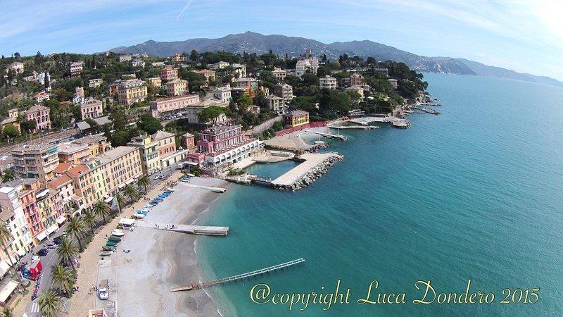 35 metri dal mare, 3 climatizzatori, wifi, tv, pulizia e confort, vacation rental in Portofino
