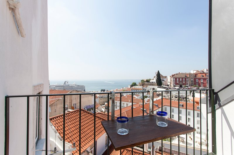 SAO VICENTE II, panorama view from balcony, holiday rental in Montijo