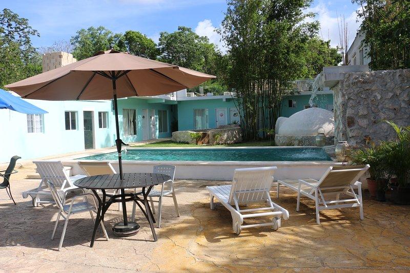 VILLAS PATY CON TEMAZCAL, holiday rental in Benito Juarez Municipality