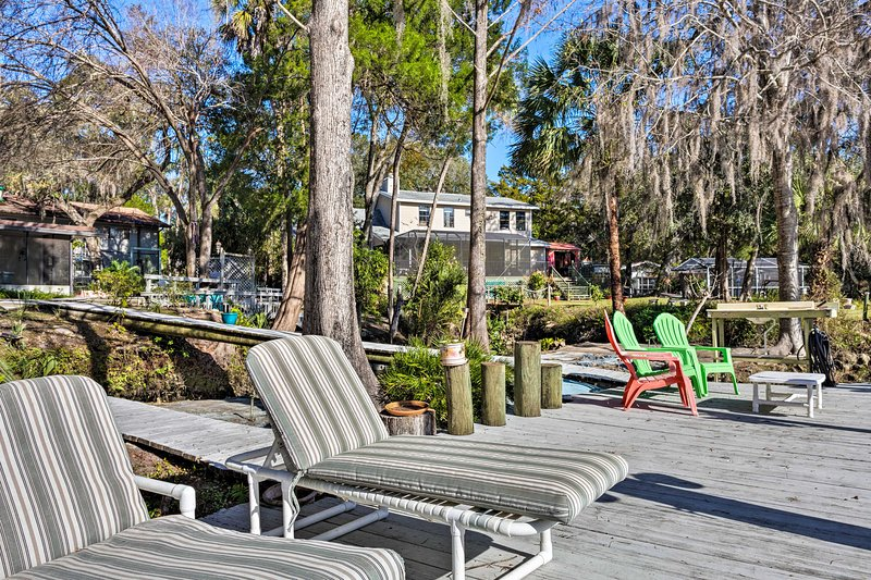 Soak up the Florida sunshine from the deck's chaises.