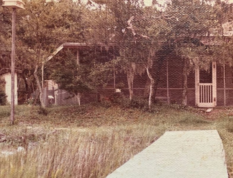 The cabin circa 1983. This property has been in the family since 1953.