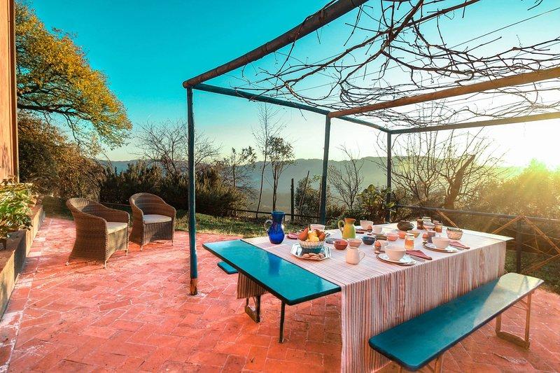 Beautiful farmhouse with swimming pool in the hills of Camaiore, aluguéis de temporada em Salapreti