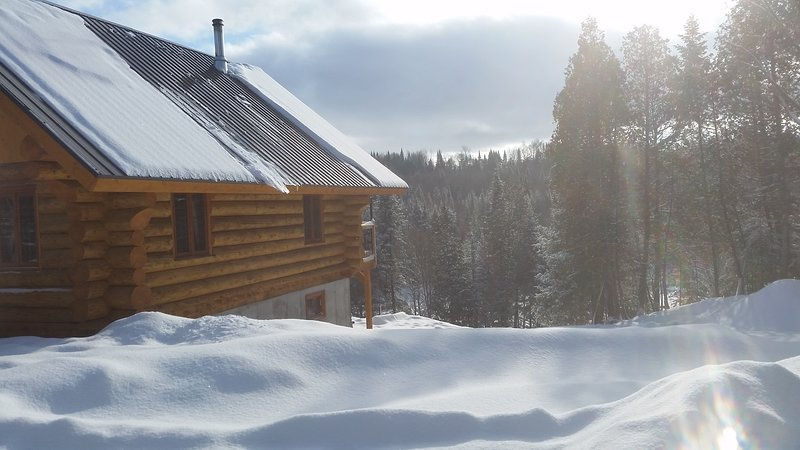 Chalet en bois rond aux paysages uniques!, holiday rental in Saint-Ubalde