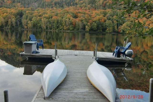 Kayaks, canoe, row boat, walk on the lake with the pontoon dock, swimming, etc.