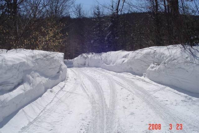 Impressive amount of snow in winter